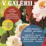Koncert v galérii_plagat